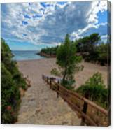 Calafat Beach In Tarragona Canvas Print