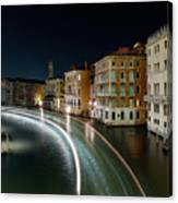 Canal Grande at night Canvas Print