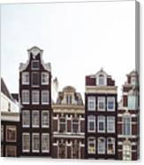 Canal Homes Amsterdam Canvas Print