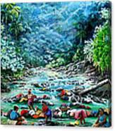 Caribbean Wash Day Canvas Print