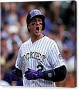 Carlos Gonzalez and Troy Tulowitzki Canvas Print