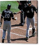 Carlos Quentin and Paul Konerko Canvas Print
