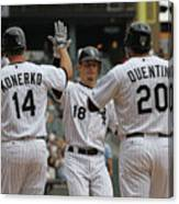 Carlos Quentin, Brent Lillibridge, and Paul Konerko Canvas Print
