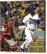 Carlos Ruiz and Jimmy Rollins Canvas Print