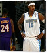Carmelo Anthony, Allen Iverson, and Kobe Bryant Canvas Print