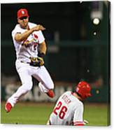 Chase Utley and Jhonny Peralta Canvas Print