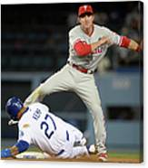 Chase Utley and Matt Kemp Canvas Print