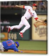 Chase Utley and Starlin Castro Canvas Print