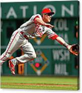 Chase Utley Canvas Print