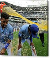 Cheslor Cuthbert and Raul Mondesi Canvas Print