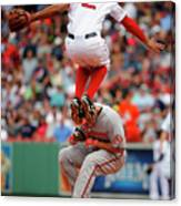 Chris Davis and Xander Bogaerts Canvas Print