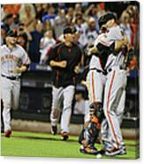 Chris Heston and Buster Posey Canvas Print