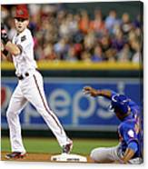 Chris Owings and Curtis Granderson Canvas Print
