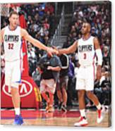 Chris Paul and Blake Griffin Canvas Print