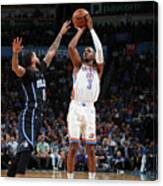 Chris Paul and D.j. Augustin Canvas Print