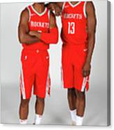 Chris Paul and James Harden Canvas Print