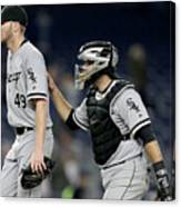 Chris Sale and Alex Avila Canvas Print
