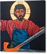 Christ Swords into Plowshares Canvas Print