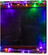 Christmas background with Christmas decorations and garland. Canvas Print