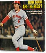 Cincinnati Reds Johnny Bench, 1976 World Series Sports Illustrated Cover Canvas Print