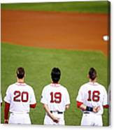 Clay Buchholz, Will Middlebrooks, and Koji Uehara Canvas Print
