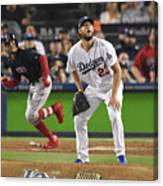Clayton Kershaw And Mookie Betts Canvas Print