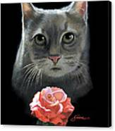 Cleo And The Rose Canvas Print