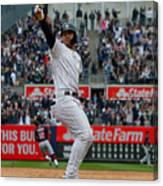 Cleveland Indians v New York Yankees Canvas Print