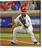 Cleveland Indians v Texas Rangers Canvas Print