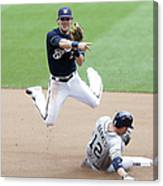 Clint Barmes and Scooter Gennett Canvas Print