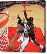 Clint Capela and Donovan Mitchell Canvas Print