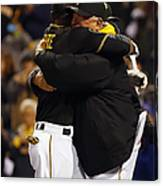 Clint Hurdle and Starling Marte Canvas Print
