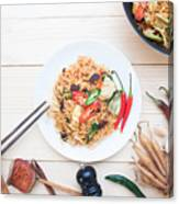 Close-Up Of Food On Table Canvas Print