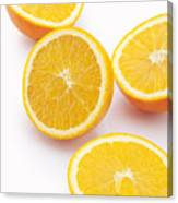 Close-up of sliced oranges Canvas Print