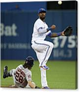 Colby Rasmus And Jose Reyes Canvas Print