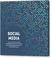 Colorful Circular Motion Illustration For Social Media Canvas Print