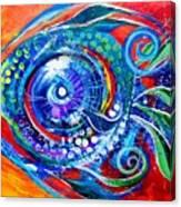 Colorful Comeback Fish Canvas Print