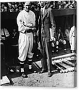 Connie Mack, Ty Cobb, and Walter Johnson Canvas Print