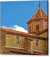 Constructions In The Town Of Cantavieja, Teruel Canvas Print