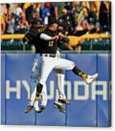 Corey Dickerson and Starling Marte Canvas Print