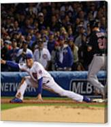 Corey Kluber, Anthony Rizzo, and Kris Bryant Canvas Print