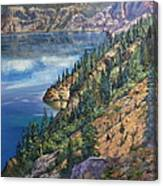 Crater Lake Overlook Canvas Print