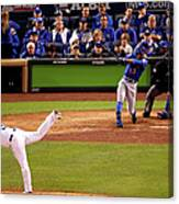 Curtis Granderson and Edinson Volquez Canvas Print