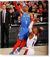 Damian Lillard and Russell Westbrook Canvas Print