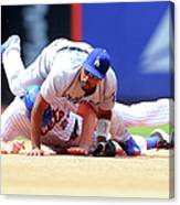 Daniel Murphy and Jimmy Rollins Canvas Print