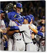 Daniel Murphy and Noah Syndergaard Canvas Print