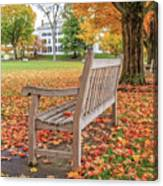 Dartmouth Hanover Green In Autumn Square Canvas Print