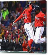 David Ortiz and Mookie Betts Canvas Print