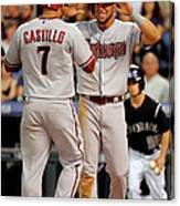 David Peralta, Welington Castillo, and Kyle Kendrick Canvas Print