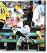 Dee Gordon and Ryan Vogelsong Canvas Print